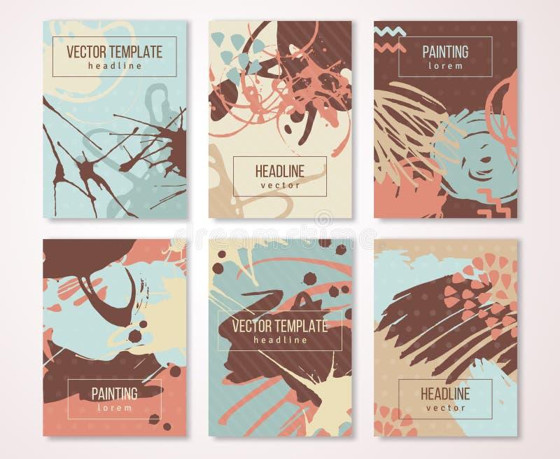Les bannières de peinture d'éclaboussure ont placé, carte créative de vintage illustration de vecteur