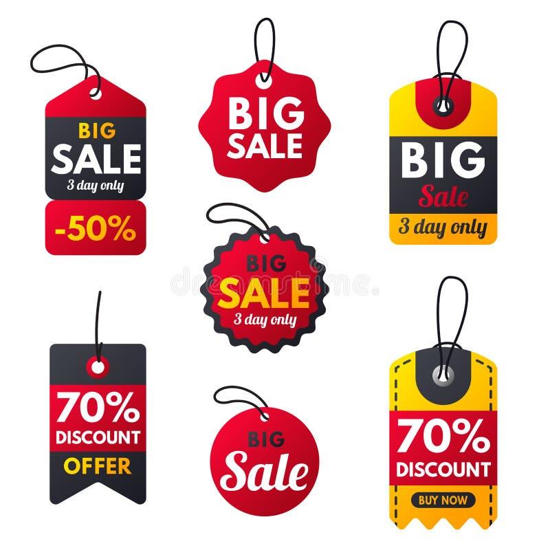 Les bannières rouges de bonification supplémentaire superbe de vente textotent l'illustration de vecteur d'offre de remise de pro illustration de vecteur