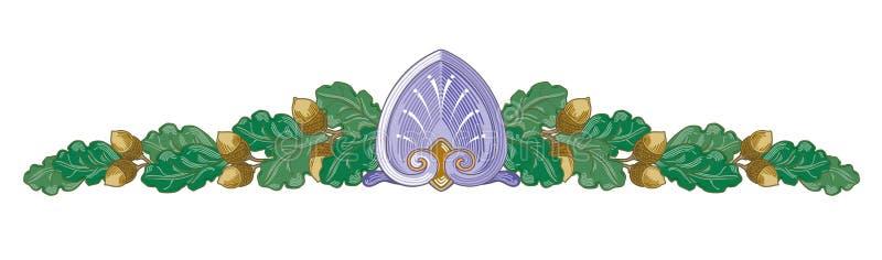 Les banni?res orientales abstraites de rubans fleurissent l'illustration de branches de guirlande illustration libre de droits