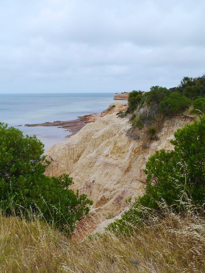 Les banques rouges de l'île de kangourou images libres de droits