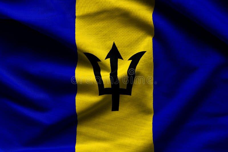 Les Barbade ondulant le drapeau photographie stock