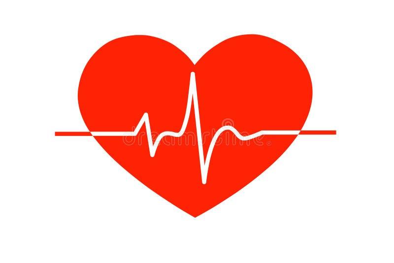 Les battements de coeur, illustration illustration de vecteur
