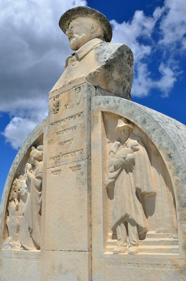 Les Baux, monument van Charloun-dou Paradou stock foto