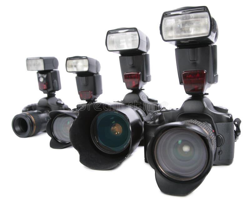 les bavures d'appareils-photo de fond rament le blanc photos libres de droits