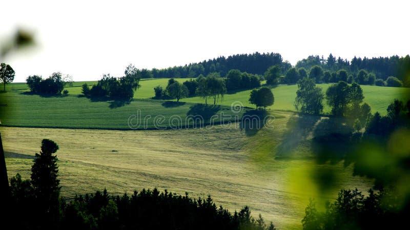 Les beaux champs de Thuringe image stock