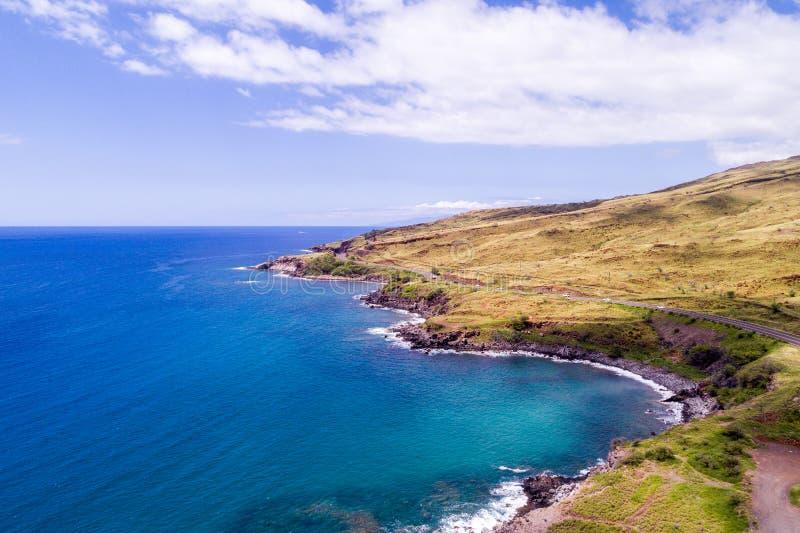 Les beaux rivages de Maui Hawaï image stock
