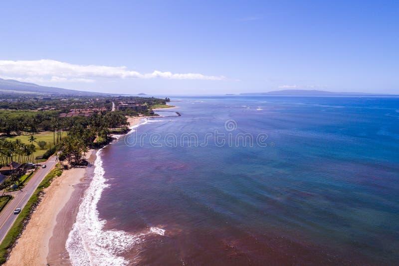Les beaux rivages de Maui Hawaï photographie stock