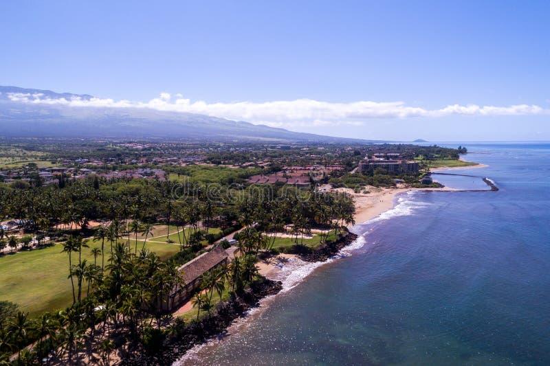 Les beaux rivages de Maui Hawaï photos libres de droits