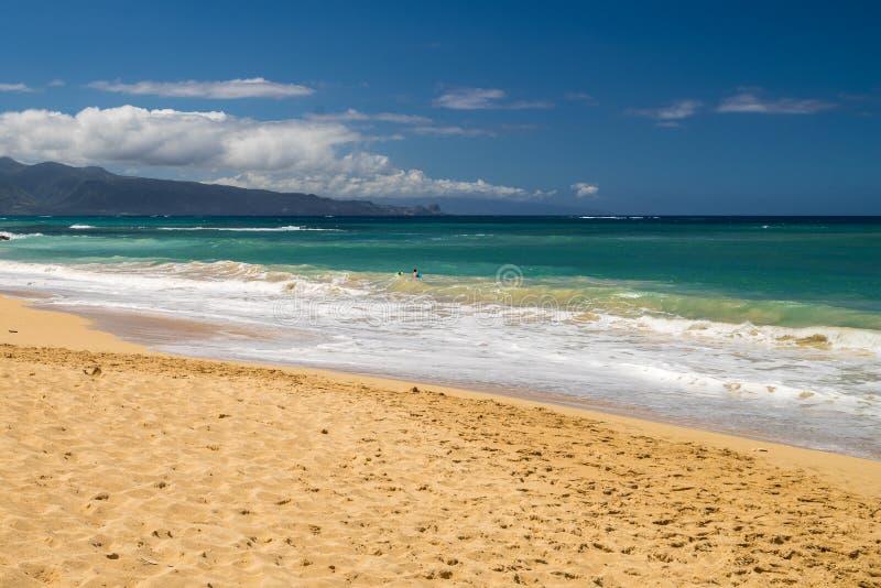 Les beaux rivages de Maui Hawaï images libres de droits
