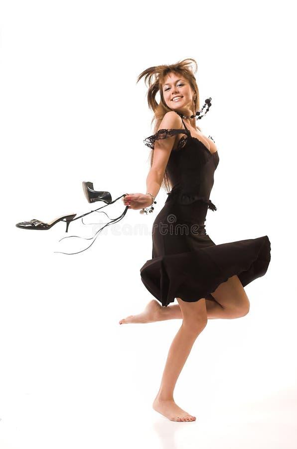 Les belles danses de fille photo libre de droits