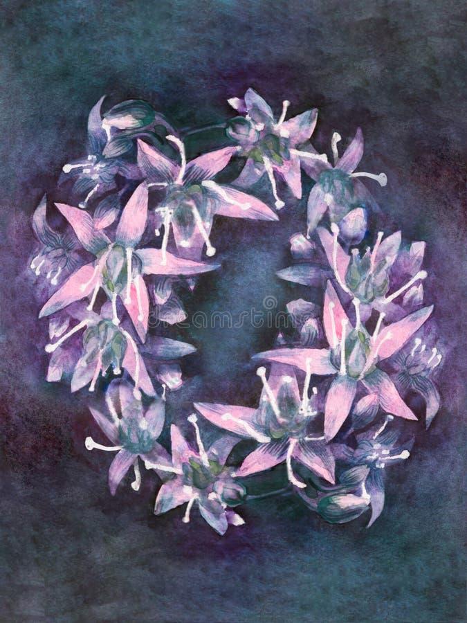 Les belles petites fleurs fluorescentes se sont ?tendues photographie stock