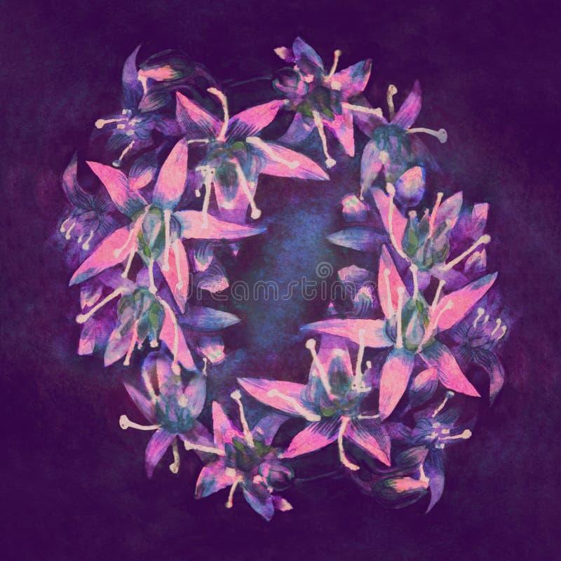 Les belles petites fleurs fluorescentes se sont ?tendues images stock