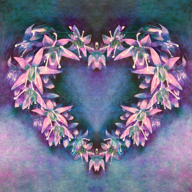 Les belles petites fleurs fluorescentes se sont ?tendues photographie stock libre de droits