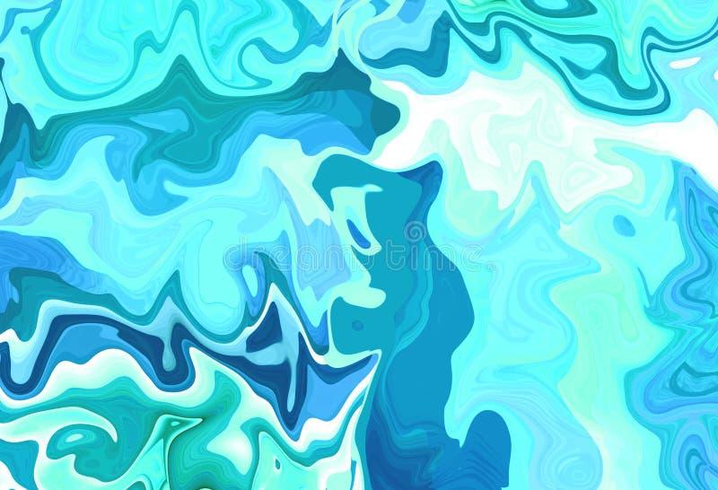 Les belles vagues d'eau bleue abstraites de voyage donnent au fond une consistance rugueuse de carte de visite professionnelle de photos libres de droits