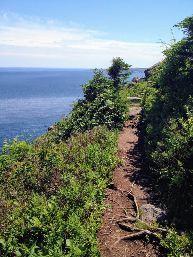 Les belles vues augmentant la Côte Est traînent outre de la côte de nouveau images libres de droits