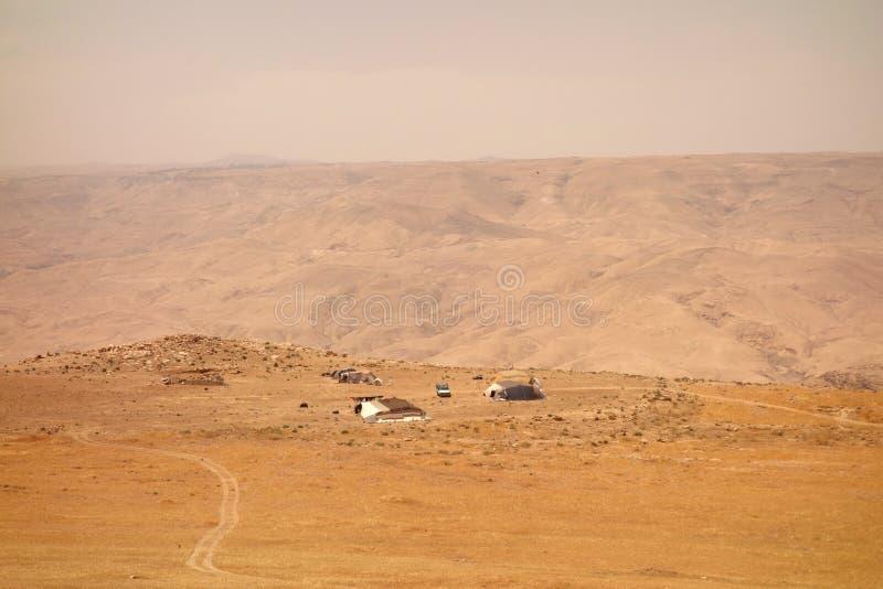 Les bergers de chèvre campent photographie stock