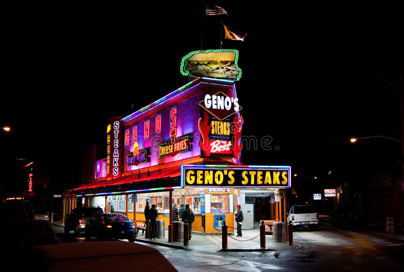 Les biftecks de Geno photo libre de droits