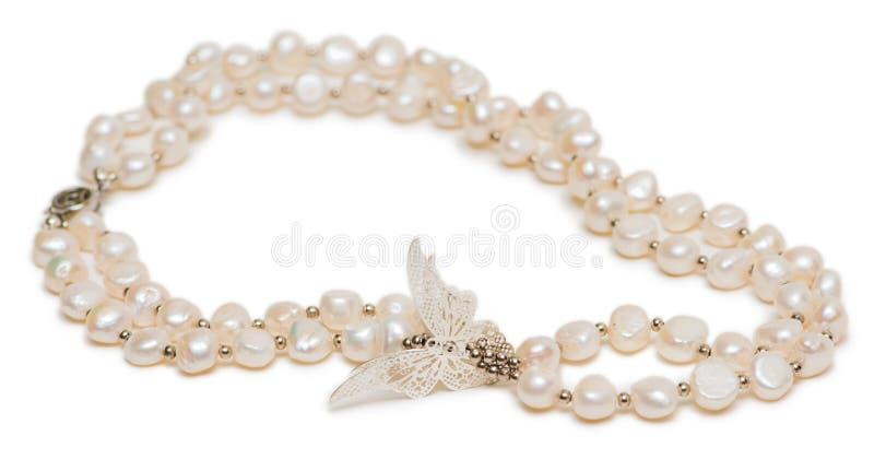 Les bijoux de femme d'isolement sur le fond blanc photos stock