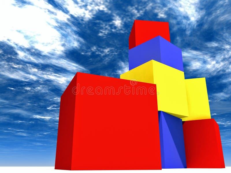 Les blocs de l'enfant illustration stock