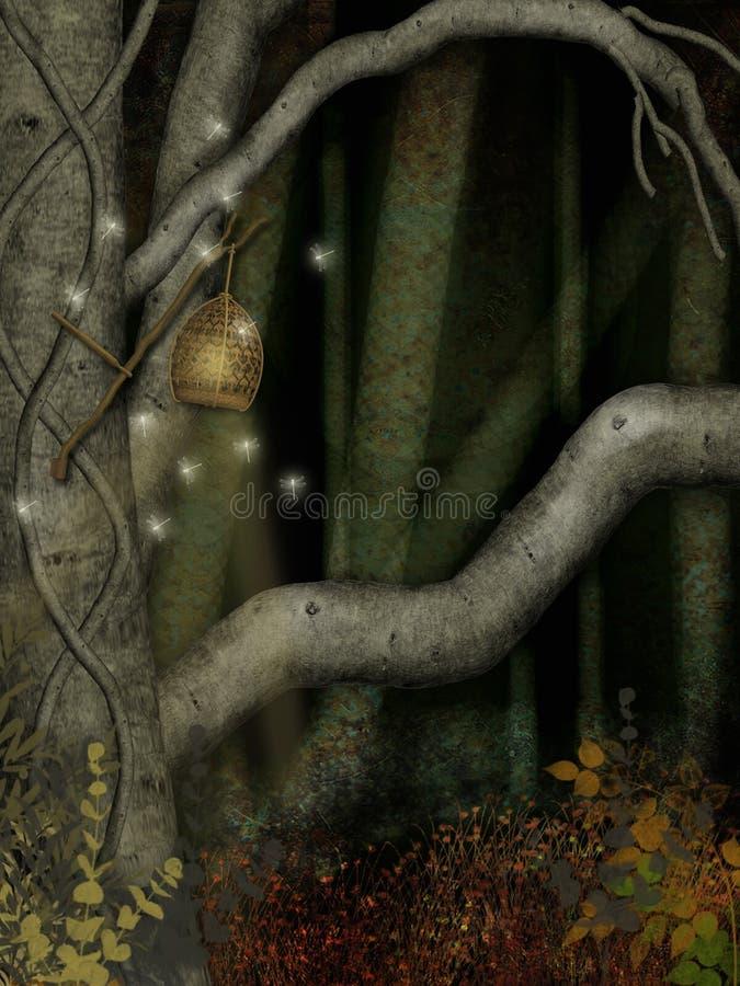 Les bois foncés illustration stock