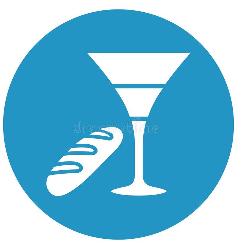 Les boissons, boisson de P?ques ont isol? l'ic?ne de vecteur qui peut facilement modifier ou ?diter illustration stock