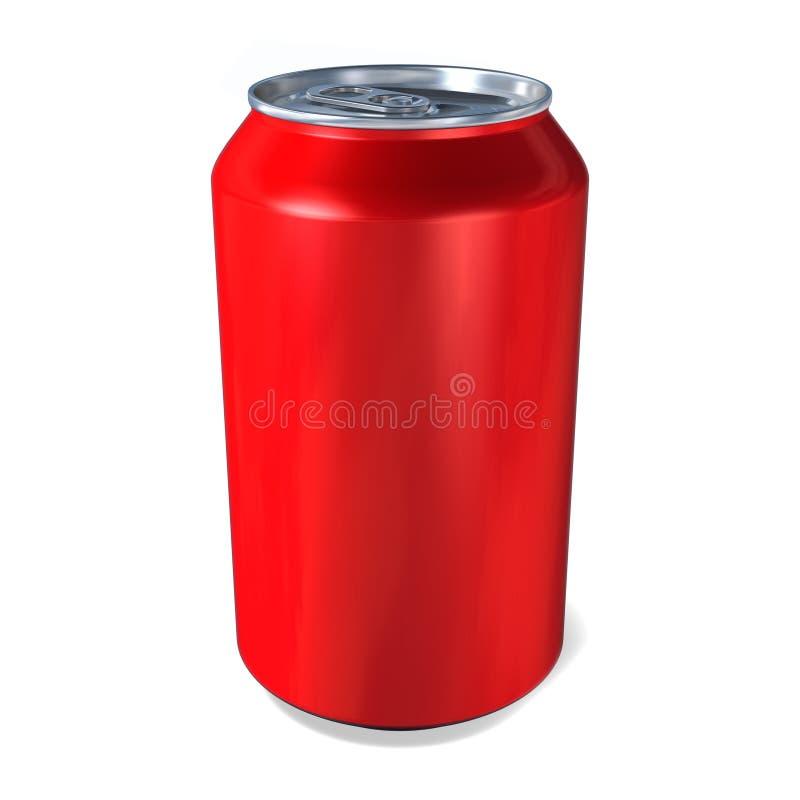 Les boissons en métal mettent en boîte en rouge illustration de vecteur