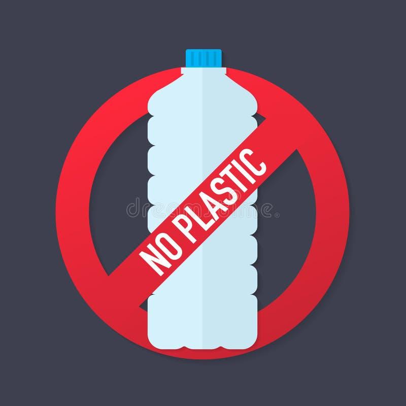Les boissons sont icône plate interdite de vecteur Aucun signe plat de vecteur de boissons Illustration de vecteur illustration stock