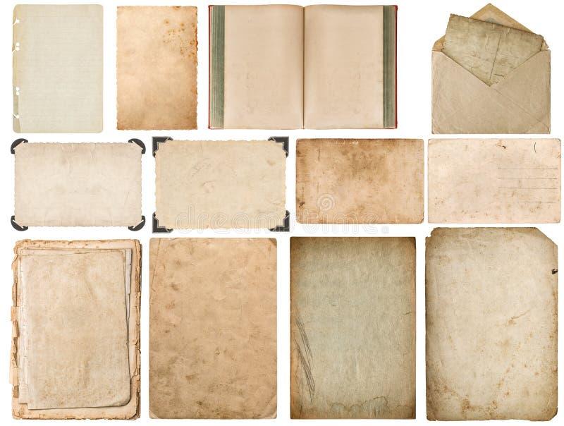 Les bords de papier réservent le coin de cadre de photo de carton d'enveloppe photos libres de droits