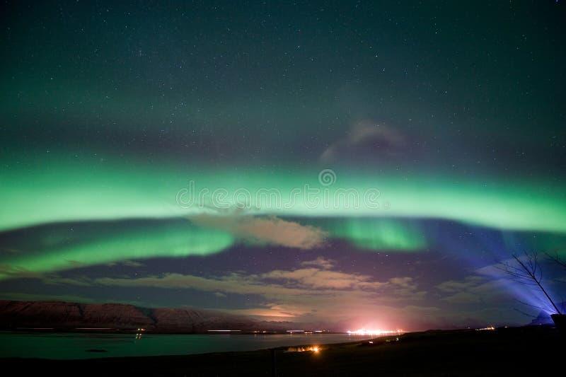 L'aurore Borealis en Islande images libres de droits