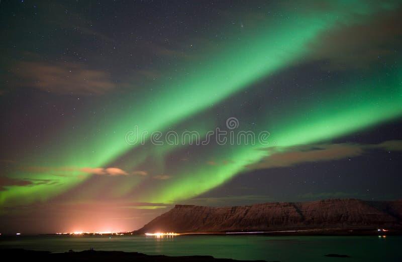 L'aurore Borealis en Islande photographie stock libre de droits