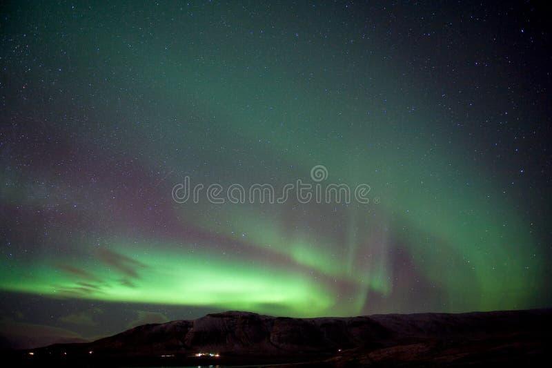 L'aurore Borealis en Islande image libre de droits