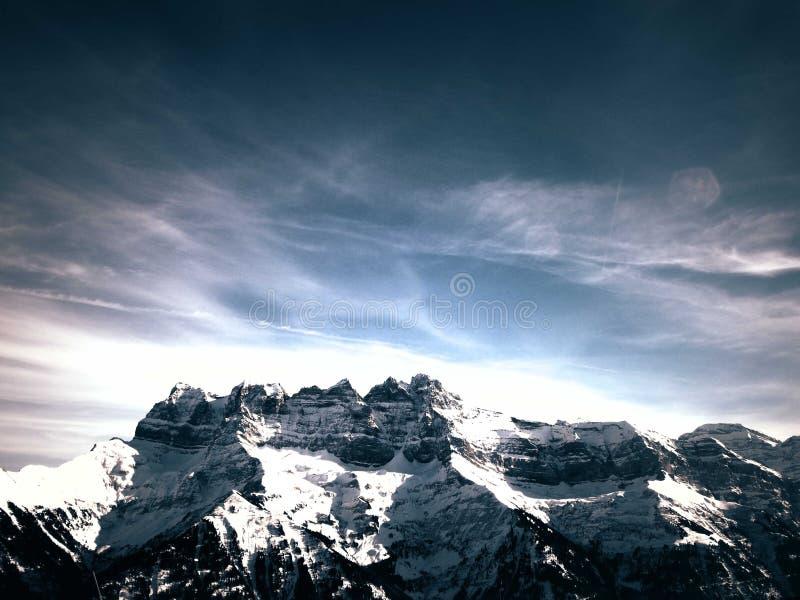 Les bosselle la montagne de du Midi image libre de droits