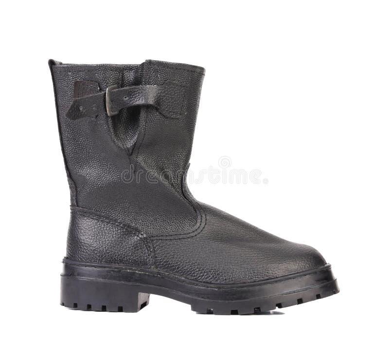 Les bottes de l'homme de couleur. Vue de côté. photo libre de droits