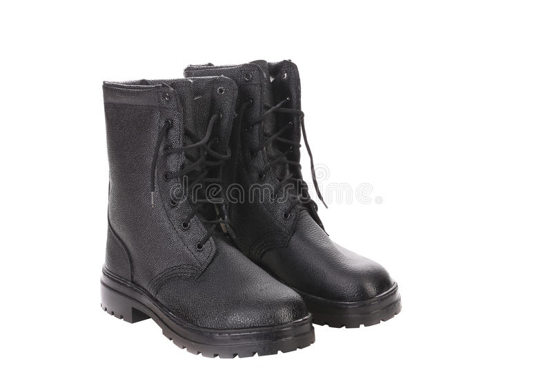 Les bottes du haut homme. image libre de droits
