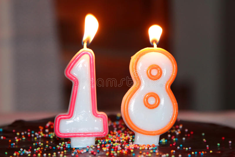 Les bougies de l'anniversaire photos libres de droits