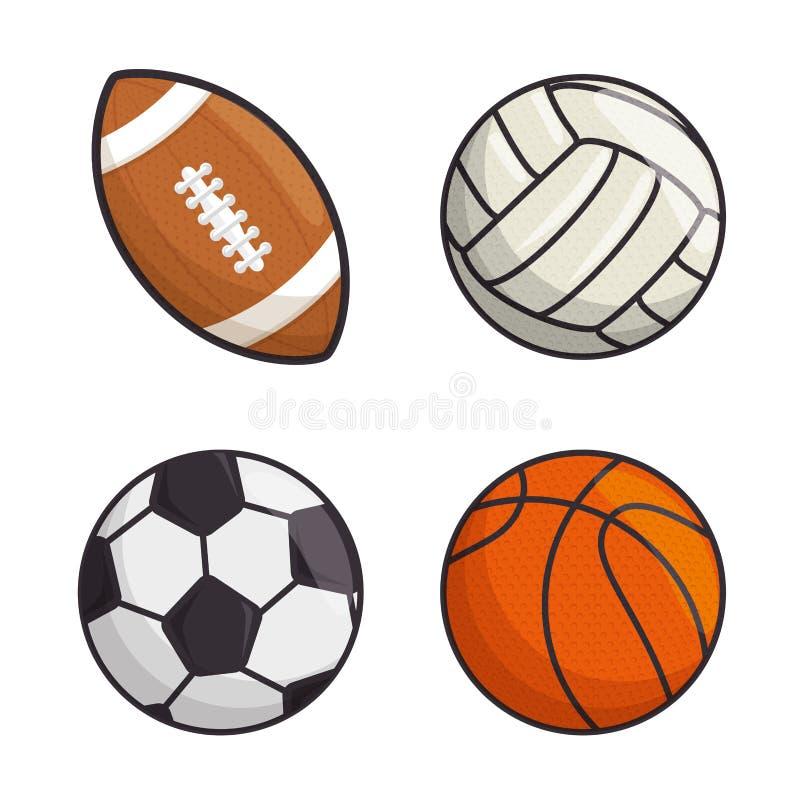 Les boules de sport ont isolé l'icône illustration de vecteur