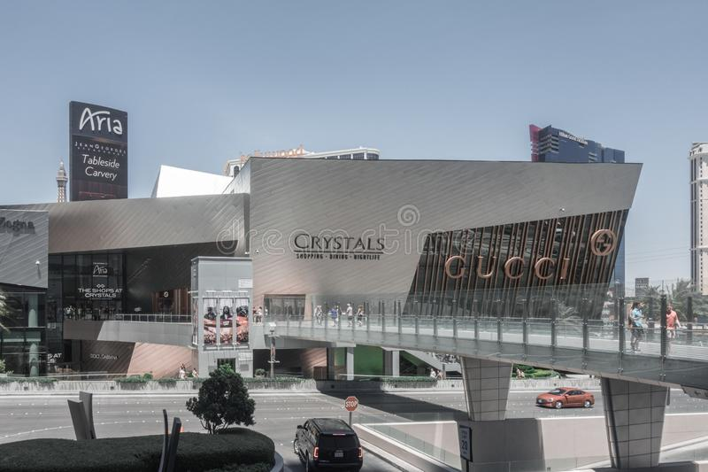 Les boutiques de Crystals, un centre commercial de luxe Las Vegas, Nv photo stock