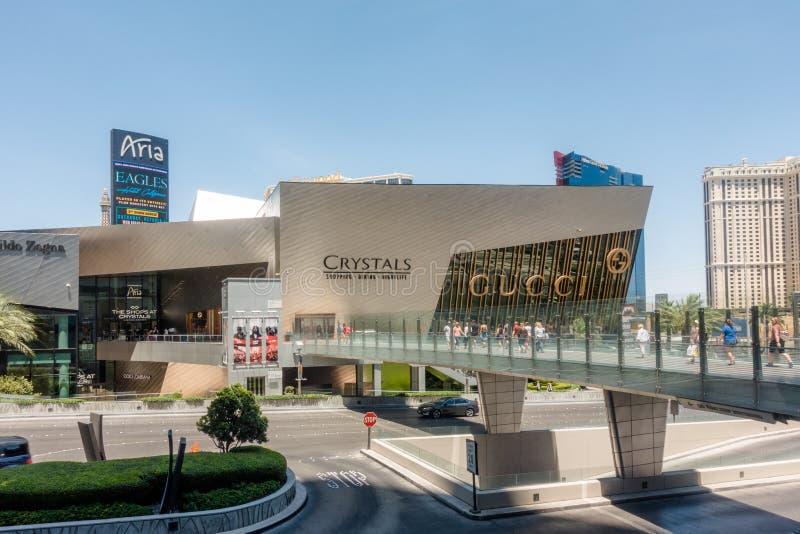 Les boutiques de Crystals, un centre commercial de luxe Las Vegas, Nv photographie stock