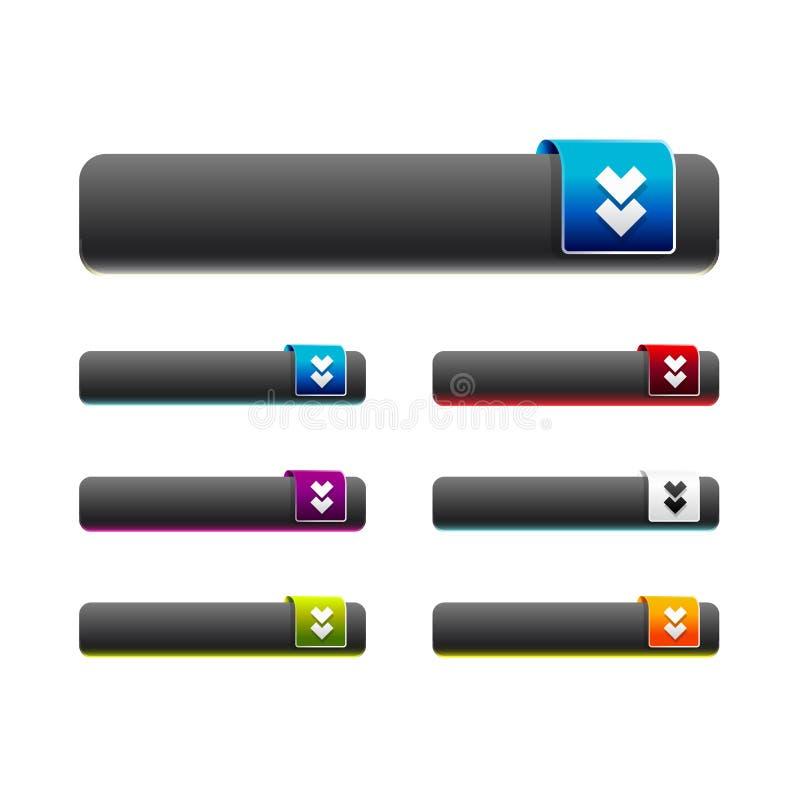 Les boutons de menu de Web de vecteur ont placé pour le site d'affaires illustration stock