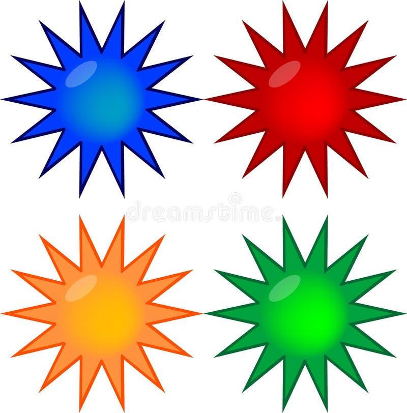 les boutons ont coloré le gel quatre professionnel illustration de vecteur