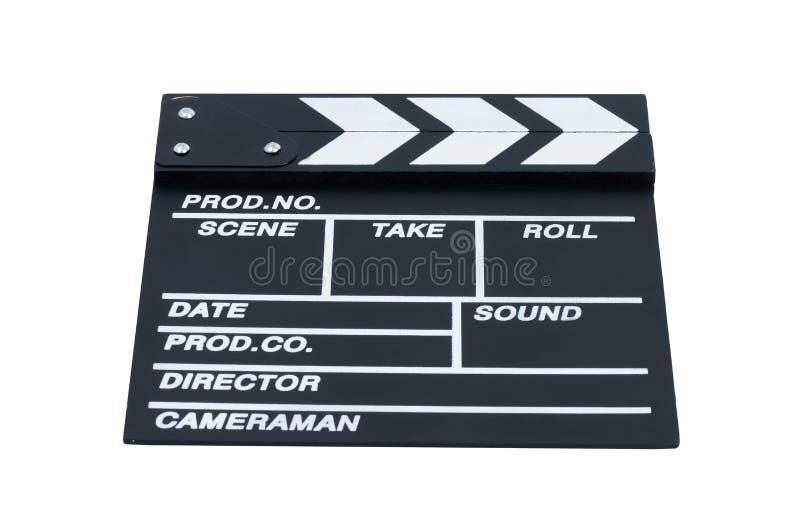 Les boutons-pression se sont fermés pour le cinéma sur un fond blanc images libres de droits