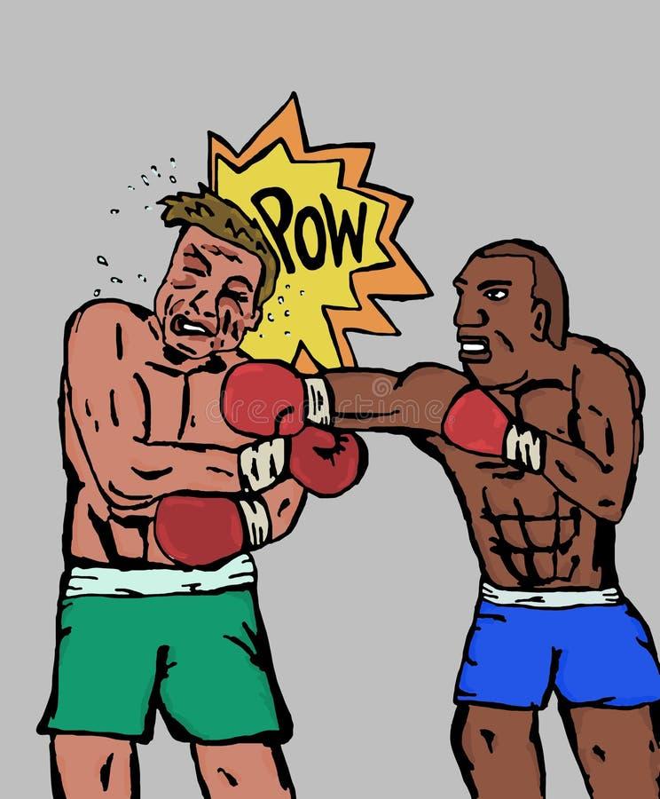 Les boxeurs illustration de vecteur