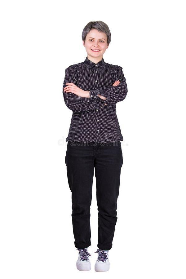 Les bras de femme ont croisé intégral image stock