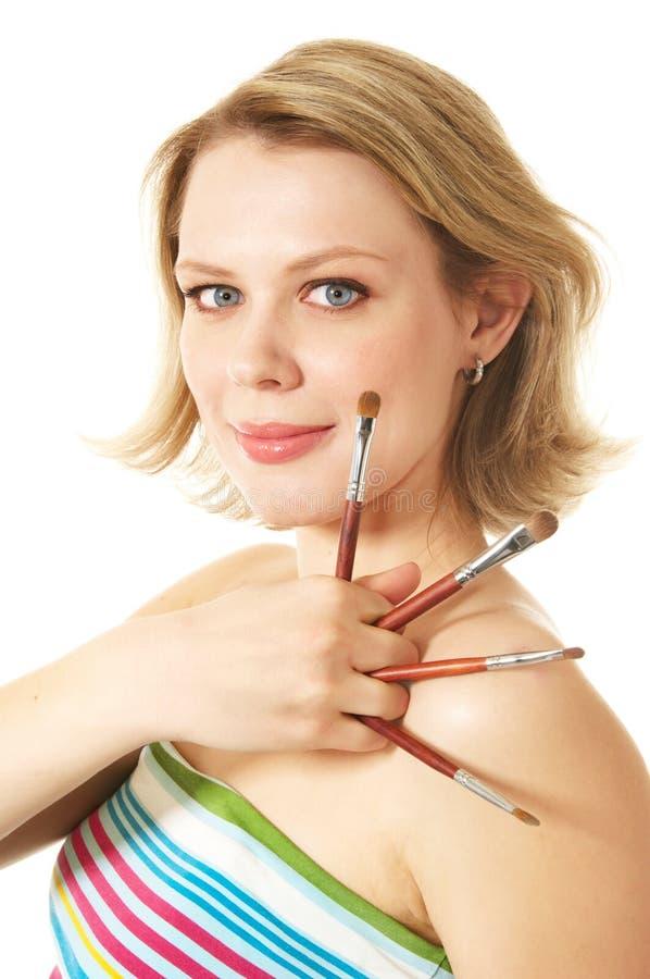 les brushs composent photo stock