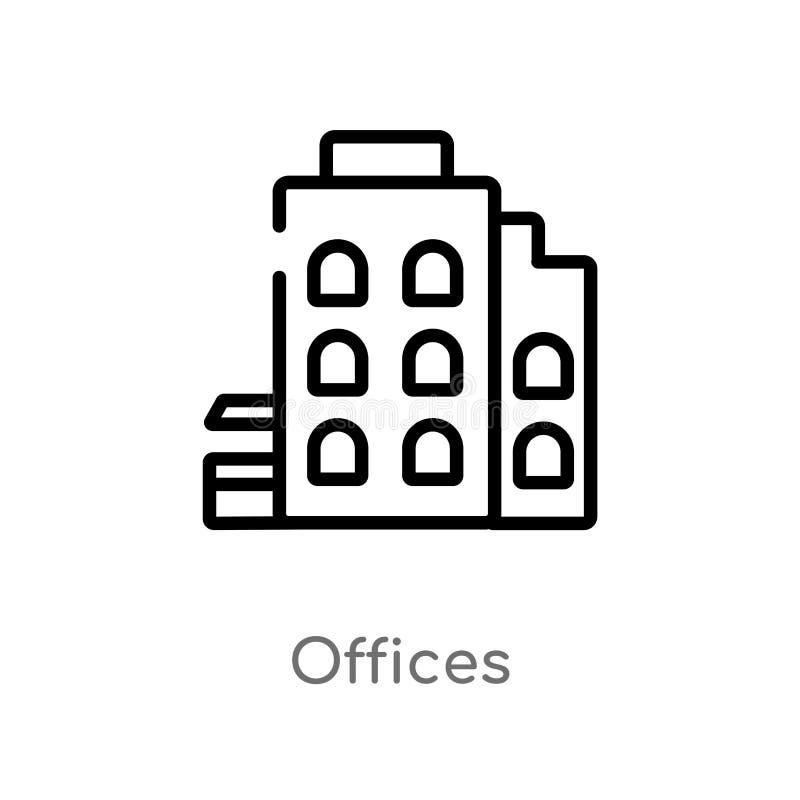 les bureaux d'ensemble dirigent l'ic?ne r Course Editable de vecteur illustration libre de droits