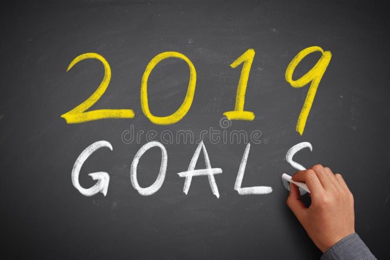 Les 2019 buts photo libre de droits