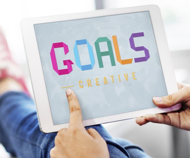 Les buts visent le concept Motivative d'inspiration de vision de cible images stock