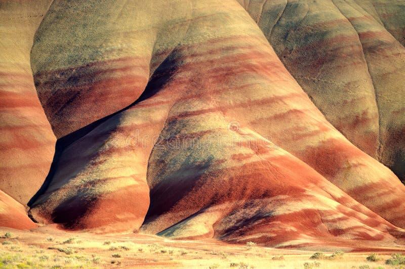 Les côtes peintes par pied Orégon photo libre de droits