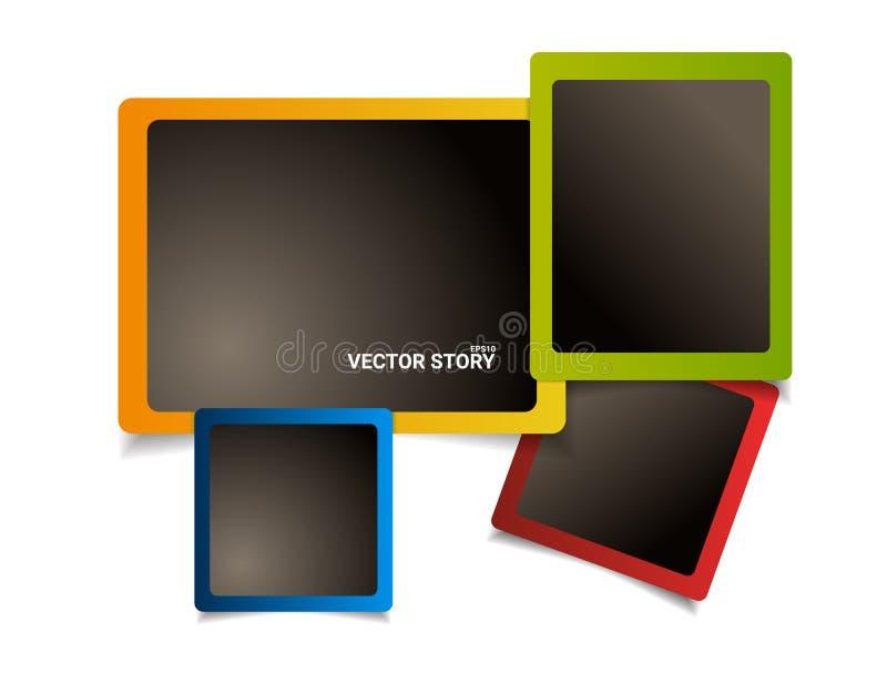 Les cadres colorés modernes de photo conçoivent Placez du nouveau calibre illustration de vecteur
