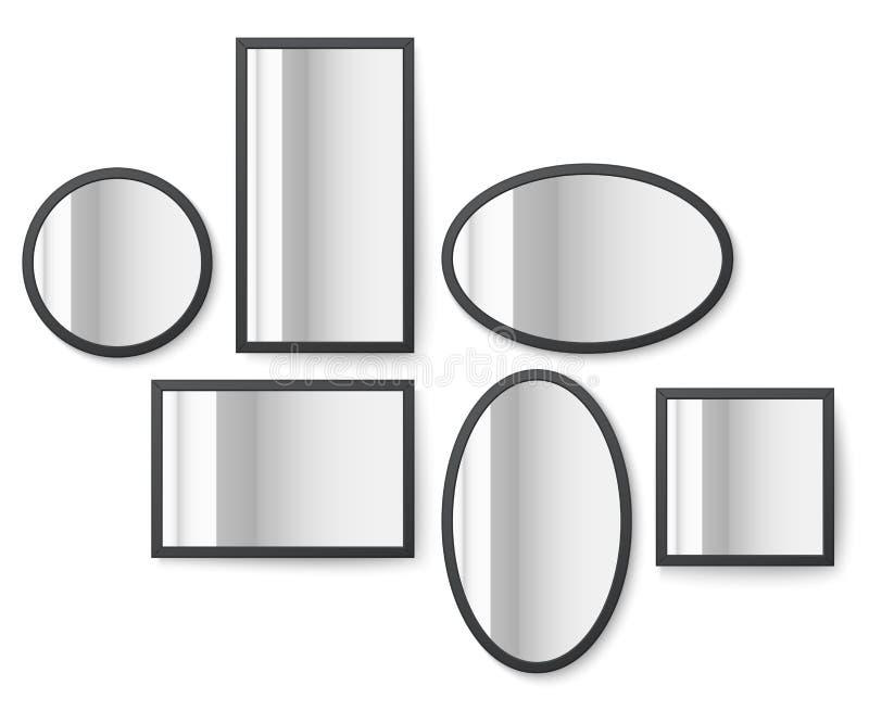 Les cadres d'image de photo avec la surface de réflexion de miroir dirigent l'illustration illustration libre de droits